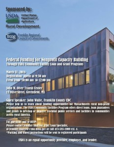 Federal Funding for Nonprofit Capacity Building @ John W. Olver Transit Center