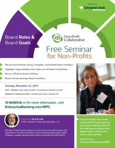 Board Roles & Board Goals @ Salvatore's Conference Center