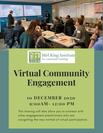 Virtual Community Engagement Training @ Zoom