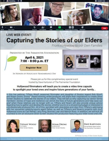 """Live Web Event """"Capturing the Stories of our Elders"""" @ Zoom"""