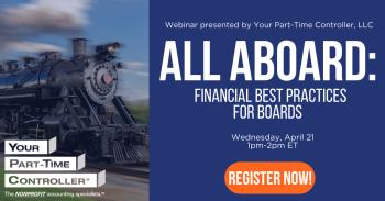All Aboard: Financial Best Practices for Boards @ Free webinar